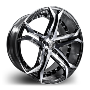 m3284 Marquee Wheel Smoke Polish Black Side