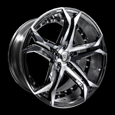 m3284 Marquee Wheel Smoke Polish Black Side