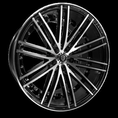 M3246 Marquee Wheel Black Polish Front
