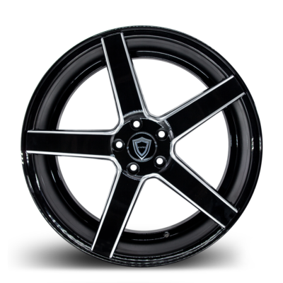 C5178 Black Milled Front