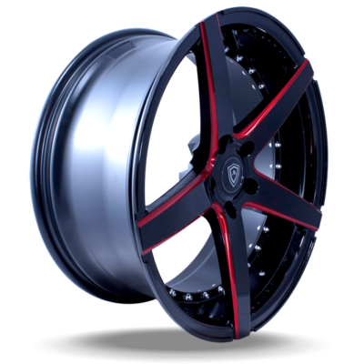 M3226 Marquee Wheel Black Face Red Milled Side