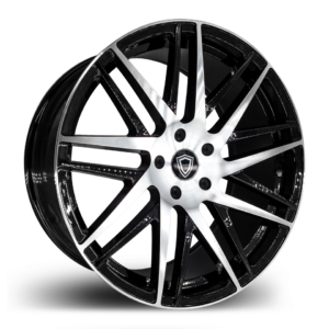 C0103 Capri Wheels Black Polish Side
