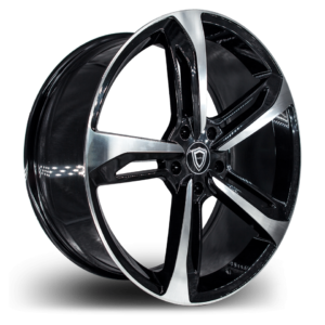 C5191 Capri wheel Black Polish Side