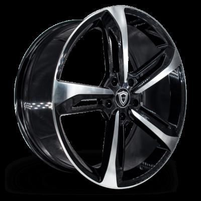 C5191 Capri wheel Black Polish Side