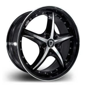 C5193 Capri Wheel Black Polish Side