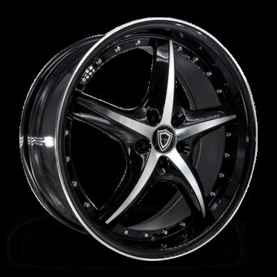 C5193 Capri Wheel Black Polish Side