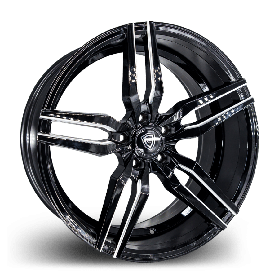 M3216 Marquee Wheel Black Polish Side