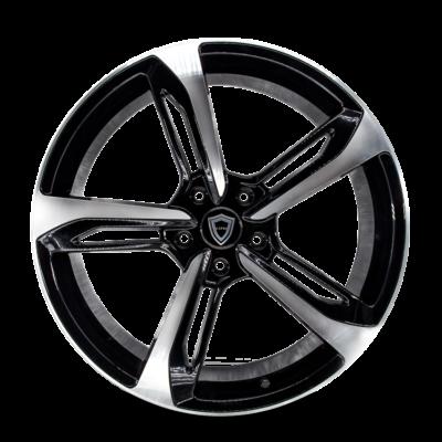 C5191 Capri wheel Black Polish Front