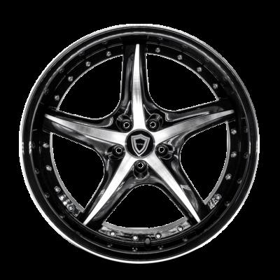 C5193 Capri Wheel Black Polish Front