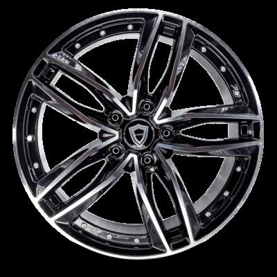 C5228 Capri Wheel Black Polish Front