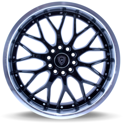 W503 black center polish lip front wheel
