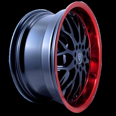 W503 black center red lip side wheel