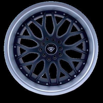 W503 black matte center polish lip front wheel