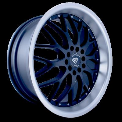 W503 black matte center polish lip side wheel