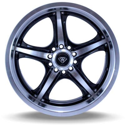 W511 polish black front wheel