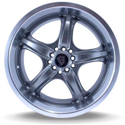 W511 polish gun metal front wheel